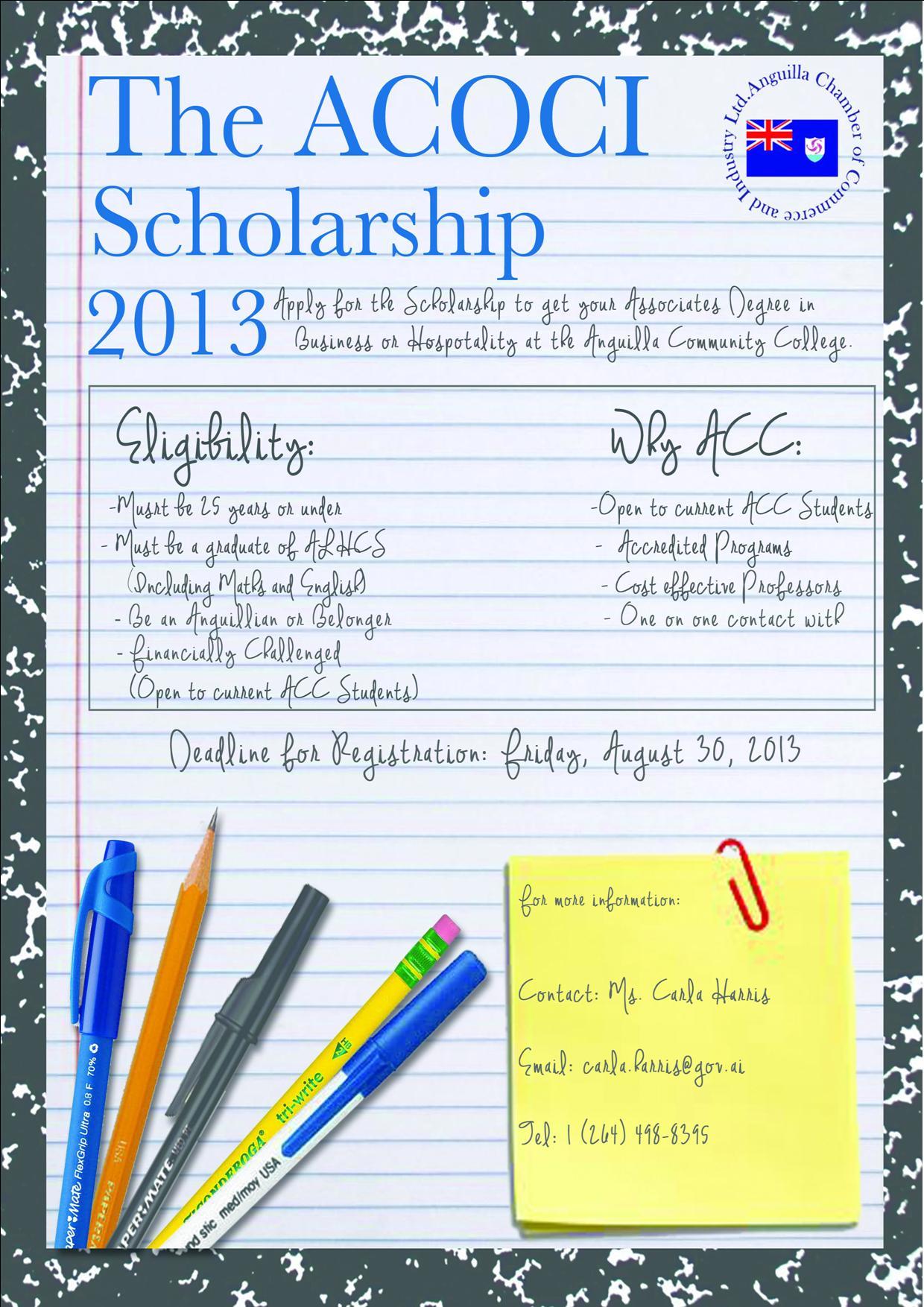 ACOCI Scholarship Flier Updated